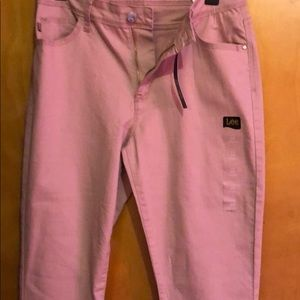 NWT Dusty mauve cropped jeans